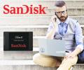 Скидка 10% по промокоду за покупку накопителей SSD SanDisk.