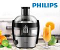 Скидка 20% по промокоду на соковыжималку Philips.