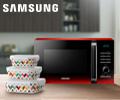 Фарфоровые контейнеры для приготовления и хранения еды в подарок при заказе с СВЧ Samsung.