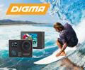 Скидка 1000 рублей по промокоду на экшн-камеру DIGMA DiCam 72C 4K.