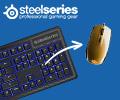 Скидка 100% на коврик или мышь при заказе в комплекте с мышью или клавиатурой SteelSeries.