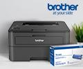 Картридж со скидкой 50% по промокоду при заказе с принтером или МФУ Brother.