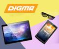 Скидка до 1500 рублей по промокоду на планшеты Digma.