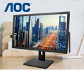 Экстрабонусы в размере 10% от цены за мониторы AOC.