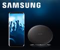 Беспроводная зарядка Samsung в подарок за смартфоны Samsung Galaxy S8/S8+.