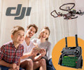 При покупке квадрокоптера DJI Spark - пульт для управления квадрокоптером в подарок.