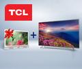 При покупке LED телевизора TCL L65P2US - в подарок LED телевизор TCL LED24D2900SA.