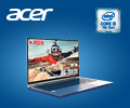 Скидка 10% по промокоду на ноутбуки Acer на базе процессоров Intel®.